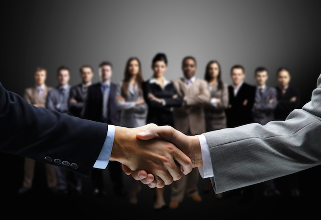 Partners to shake hands